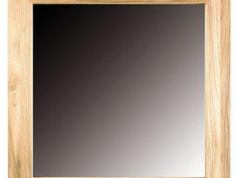 MEUBLES ZAGO - miroir carr� 61988 en teck sabl� - Miroir