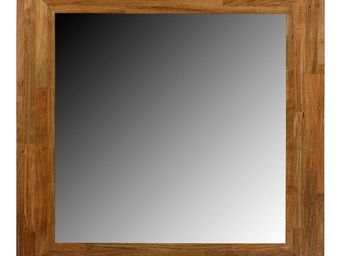 MEUBLES ZAGO - grand miroir rectangle teck recycl� metis - Miroir