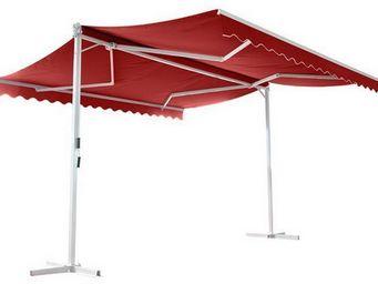 UsiRama.com - abri store de terrasse à double pente papillon 4x4 - Abri De Terrasse