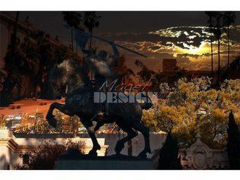 Magel'design - balboa park san diego 120x80 cm , 3d effet relief - Tableau Contemporain