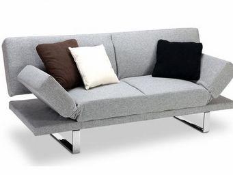 Miliboo - canapé convertible design gris atlanta - Canapé Lit