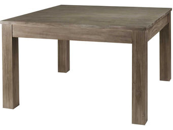 ZAGO - table carree avec allonge en teck teinte - Table Basse Carr�e