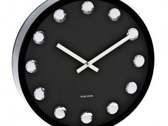 Karlsson Clocks - karlsson - horloge big diamond - karlsson - noir - Horloge Murale