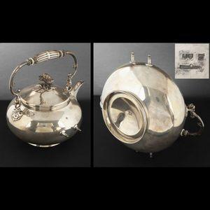 Expertissim - fontaine à thé en métal argenté christofle - Tisanière