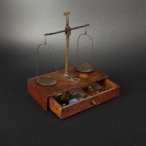 Expertissim - balance d'apothicaire et boîte à poids - Balance De Cuisine Mécanique