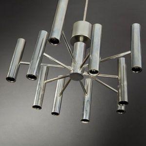 Expertissim - suspension lumineuse en inox vers 1970 - Lustre