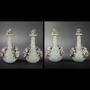 Expertissim - paire de vases en porcelaine de jacob petit - Vase D�coratif