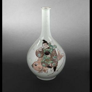 Expertissim - vase bouteille en porcelaine, japon, xixème siècle - Soliflore