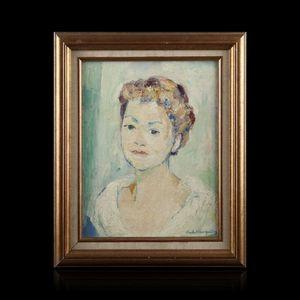 Expertissim - charles albert gueldry. portrait de jeune fille - Portrait