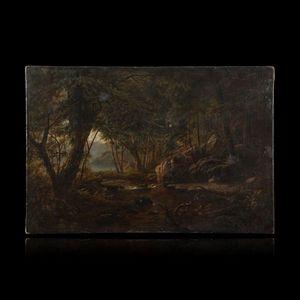 Expertissim - julius o de montalant. torrent en sous-bois - Paysage