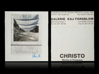 Expertissim - christo. work in progress, affiche offset - Affiche