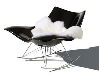 Fredericia - stingray noir - Rocking Chair
