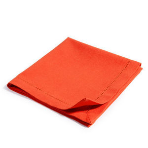 Maisons du monde - serviette unie corail - Serviette De Table