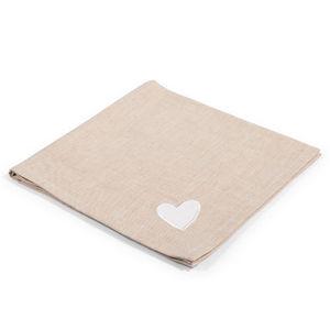Maisons du monde - serviette amore écru - Serviette De Table