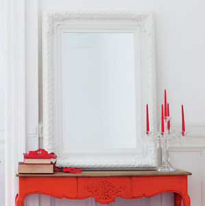 Maisons du monde - miroir marquise blanc 95x125 - Miroir