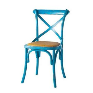 MAISONS DU MONDE - chaise bleue tradition - Chaise