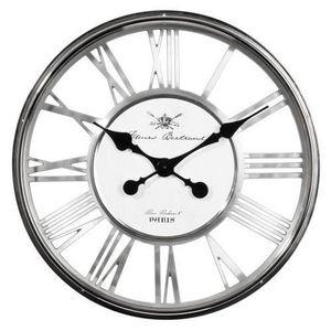 Maisons du monde - horloge regent chrome - Horloge Murale