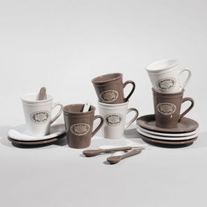 Maisons du monde - coffret 6 tasses à café blason - Tasse À Café