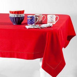 Maisons du monde - nappe unie rouge 170x310 - Nappe Rectangulaire