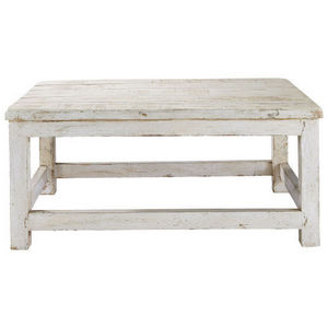 Maisons du monde - table basse blanche avignon - Table Basse Rectangulaire