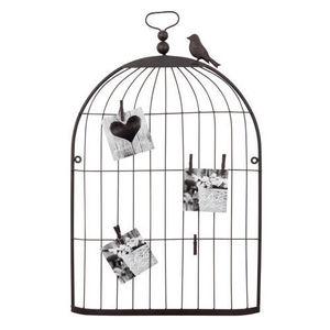 Maisons du monde - pêle mêle cage oiseau rusty grand modèle - Porte Photo