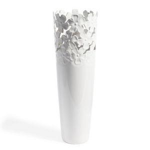 Maisons du monde - vase flora blanc - Vase À Fleurs