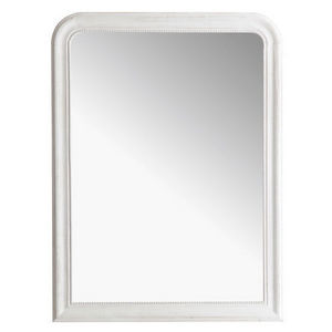 Maisons du monde - miroir louis blanc 90x120 - Miroir
