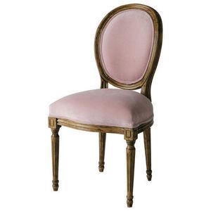Maisons du monde - chaise vieux rose louis - Chaise Médaillon