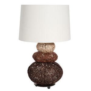Maisons du monde - lampe fibre végétale - Lampe À Poser