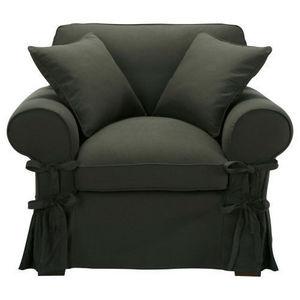MAISONS DU MONDE - fauteuil coton anthracite butterfly - Fauteuil