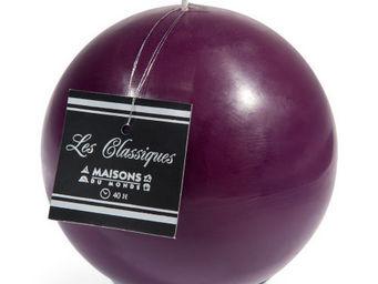 Maisons du monde - bougie boule violette - Bougie Ronde