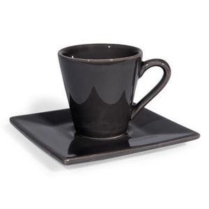 Maisons du monde - tasse et soucoupe à café inspiration anthracite - Tasse À Café