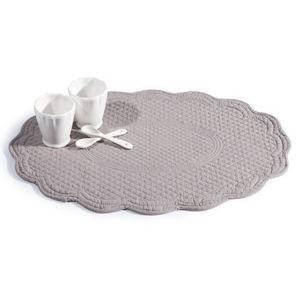 MAISONS DU MONDE - set de table matelassé elodie gris et lila - Set De Table