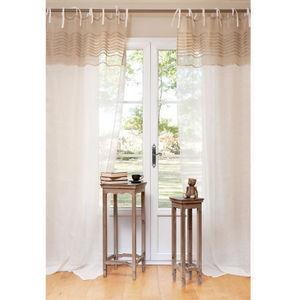 Maisons du monde - rideau lys - Rideaux À Lacettes