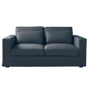 Maisons du monde - canapé 2-3 places convertible gris ardoise milano - Canapé Lit