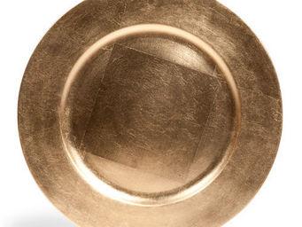 Maisons du monde - assiette de présentation laquée dorée - Assiette De Présentation