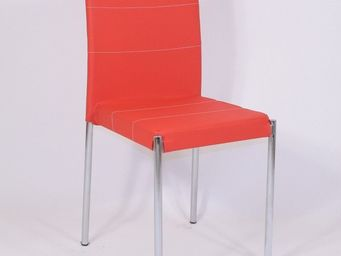 CLEAR SEAT - chaises tendance rouge glossy lot de 4 - Chaise