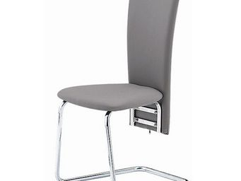 CLEAR SEAT - chaise grise simili cuir tempo - Chaise