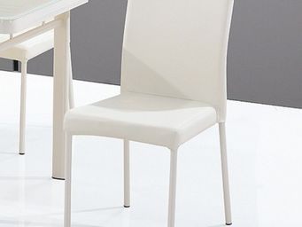CLEAR SEAT - chaises luna blanc cr�me lot de 6 - Chaise Visiteur