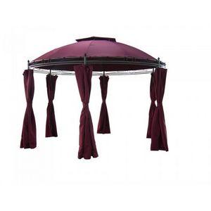 LUSOTUFO - tonnelle ronde diam.3.5m avec rideaux twina - Tonnelle