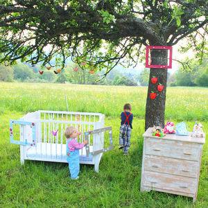 LITTLE BOHEME - cadre pêle mêle bleu pour enfant le bonheur est da - Cadre Photo Enfant