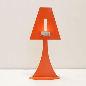 Fenel & Arno - bougeoir lampe en métal orange chandelier electic - Bougeoir