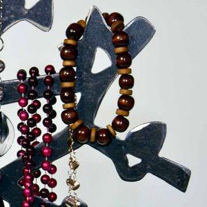 YAN HUBLOT - arbre à bijou en métal droit - Porte Bijoux