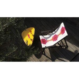 TROIS MAISON - toile de transat - empreinte rose - Chaise