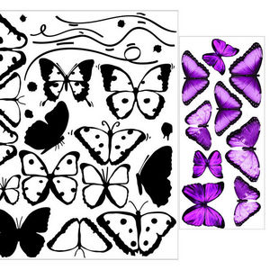 ALFRED CREATION - sticker papillons roses - Gommettes