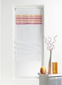 HOMEMAISON.COM - store en étamine rayures horizontales - Voilage