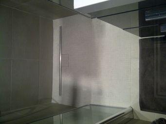 CasaLux Home Design - grès cérame béton smoke (mosaïque) - Carrelage Salle De Bains