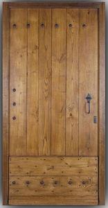 Portes Anciennes - porte de mas en chataignier - Porte D'entrée Pleine