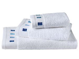 BLANC CERISE - drap de douche - coton peigné 600 g/m² - brodé - Serviette De Toilette
