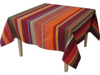 Les Toiles Du Soleil - nappe rectangulaire collioure rouge - Nappe Rectangulaire